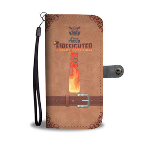 I'm A Proud Firefighter Dad Wallet Case