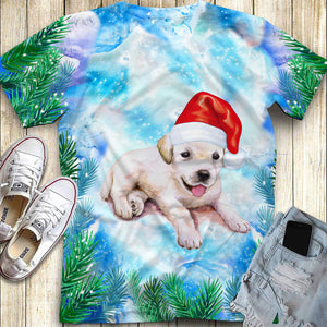 Christmas Golden Retriever Puppy All Over Print 3d Full Printing