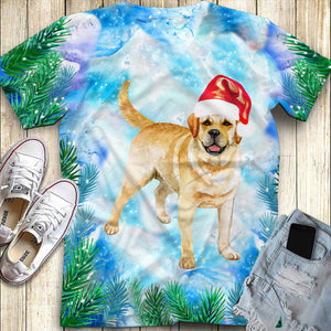 Christmas Golden Retriever All Over Print 3d Full Printing