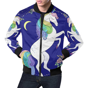 Unicorn All Over Print Bomber Jacket All Over Print Bomber Jacket for Men (H19)