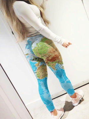 World Map Shirts & Leggings All Over Print | 9SHOP   MAKE YOU LOOK