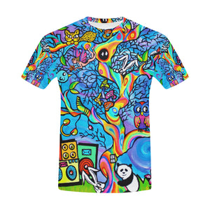 Cute animals, tree of life All Over Print T-Shirt for Men All Over Print T-Shirt for Men (T40)