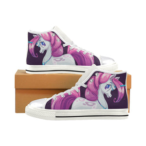 unicorn Women's Classic High Top Canvas Shoes (Model 017) Women's High Top Canvas Shoes (017)