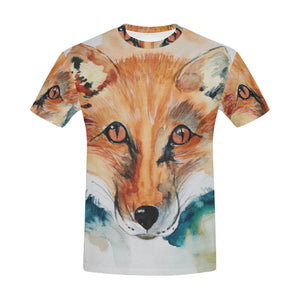 Fox Painting All Over Print T-Shirt for Men All Over Print T-Shirt for Men (T40)