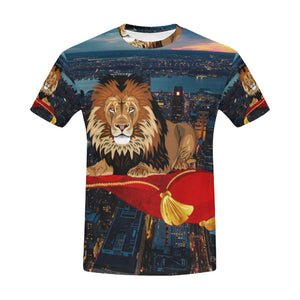 City View Sunset River Sky Cloud Nature Lion with All Over Print T-Shirt for Men All Over Print T-Shirt for Men (T40)