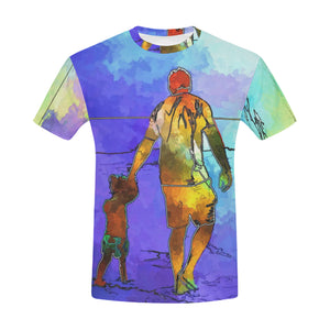Father and Son Painting All Over Print T-Shirt for Men All Over Print T-Shirt for Men (T40)