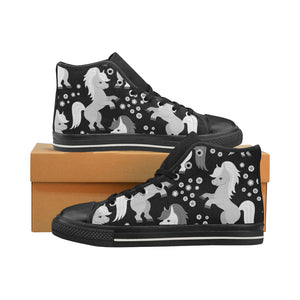 unicorn Women's Classic High Top Canvas Shoes (Model 017)