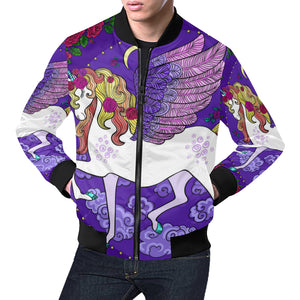 Unicorn Bomber Jacket All Over Print Bomber Jacket for Men (H19)