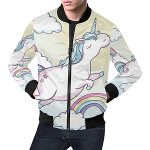 Cartoon magic unicorn bomber jacket All Over Print Bomber Jacket for Men (H19)