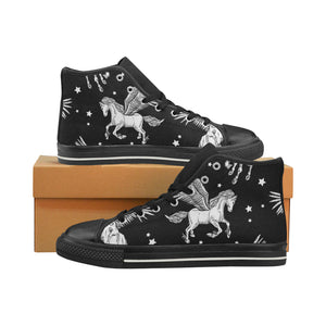 unicorn 1 Women's Classic High Top Canvas Shoes (Model 017)