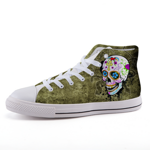 Sugar Skull High-top fashion canvas shoes