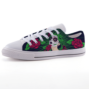Sugar Skull Girl Low-top fashion canvas shoes