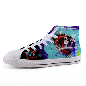 Girls of 2018 High-top fashion canvas shoes