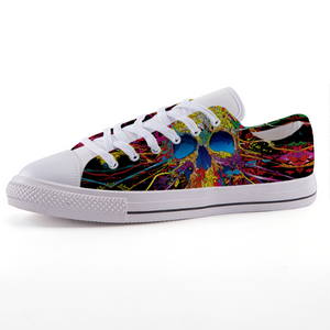 Colorful Sugar Skull fashion canvas shoes