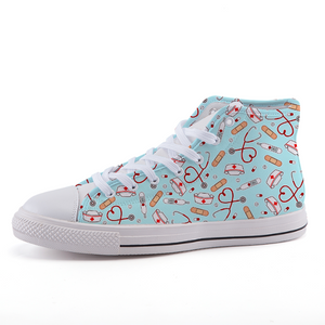 Nurse high-top fashion canvas shoes