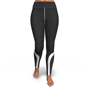 Black Hexagon Yoga Pants Yoga Pants