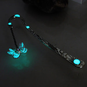 Multilayer butterfly bookmark in the dark