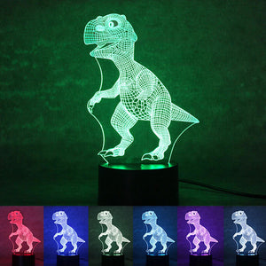 3D Lamp Visual Light Effect 7 Colors Changes Night Light (Dinosaur)