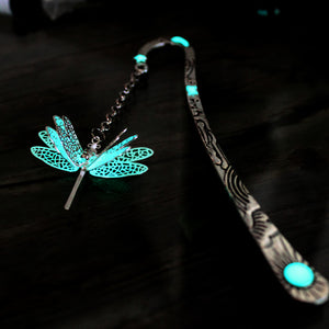 Dragonfly bookmark glow in the dark
