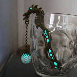 Dragon bookmark glow in the dark