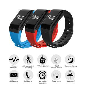 Smart Wrist Band Heart Rate Tracker Fitness Tracker