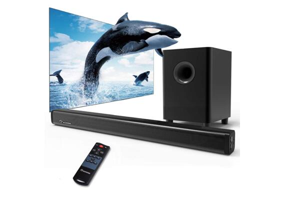 2.1 Channel Wohome TV Soundbar with Subwoofers and Bluetooth