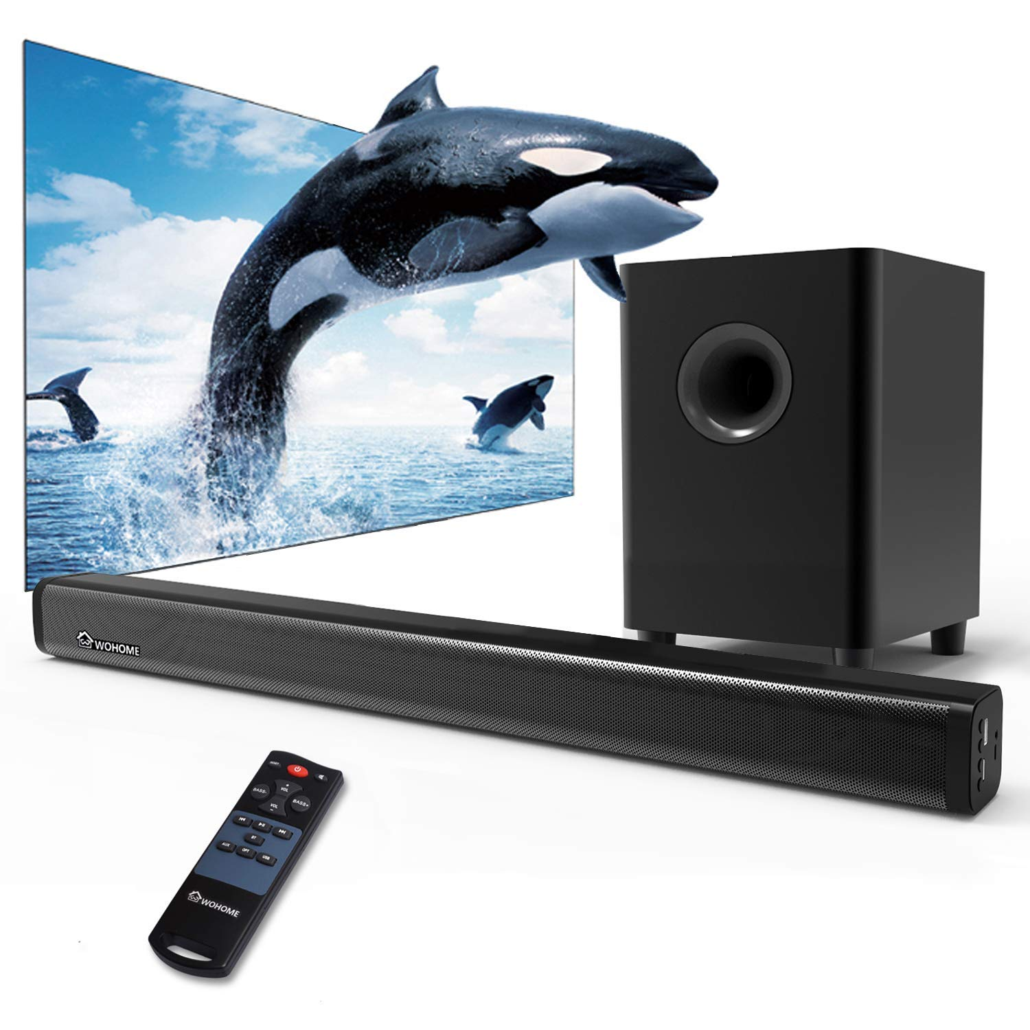 2.1 Channel Wohome TV Soundbar with Subwoofers & Wireless Bluetooth S18