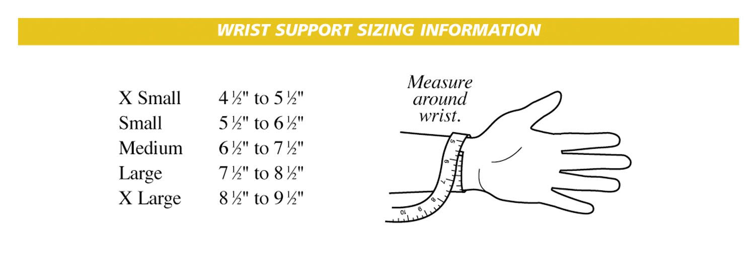 Zratos Wrist Size Chart for Anchor Bracelets