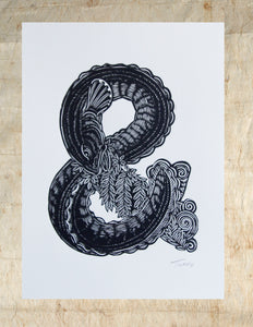 A - Z Woodcuts- Michel Tuffery