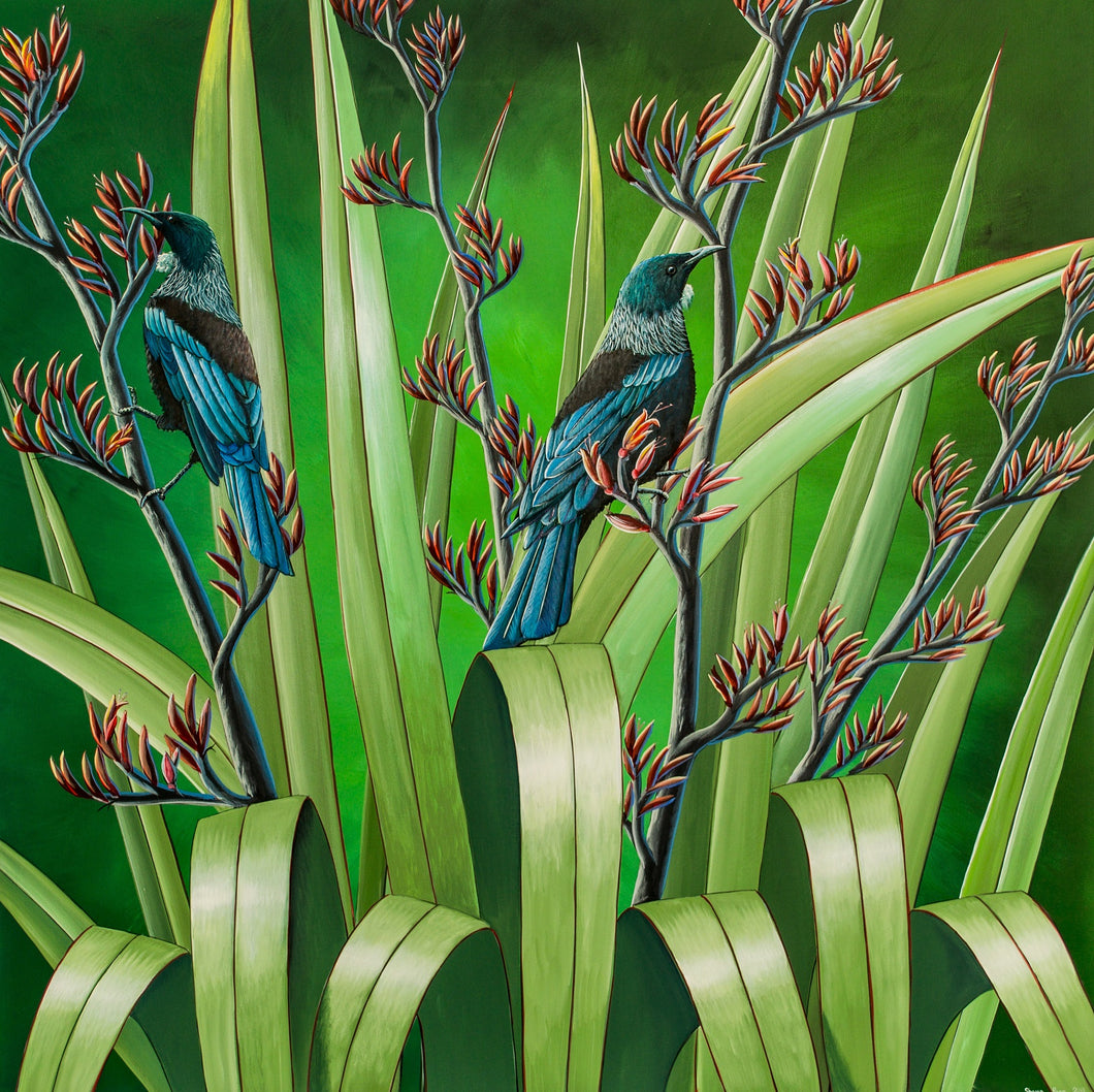 Tui on Flax- SOLD