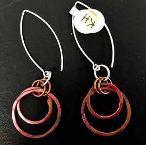 Double Loop Copper Earrings-SOLD
