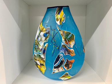 Large Aqua Shard Glass Vase