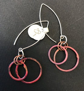 Double Copper Earrings
