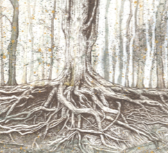 Tree with Roots - SOLD