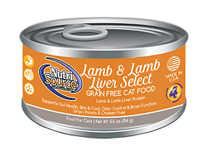 NutriSource Grain Free Lamb & Lamb Liver - CAT
