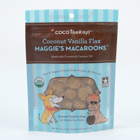 CocoTherapy Maggie's Macaroons Coconut Vanilla Flax Treat