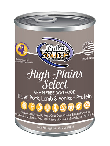 NutriSource Grain Free High Plains Select