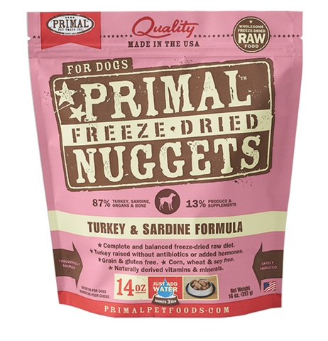 Primal Freeze-Dried Turkey & Sardines