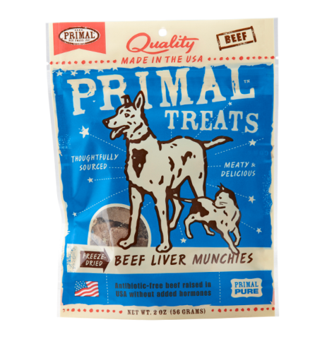 Primal Freeze-Dried Beef Liver Munchies Treat