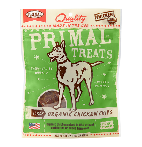 Primal Chicken Jerky Chip Treats