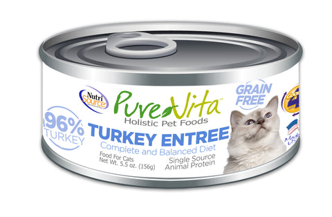 PureVita Grain Free Turkey Entree - CAT