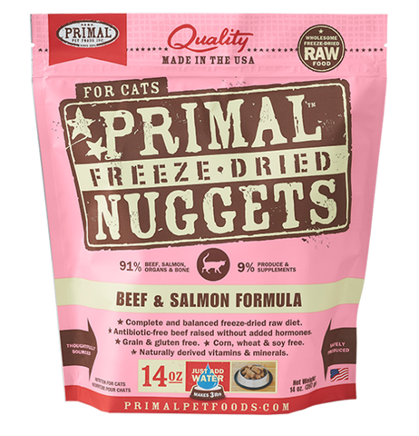 Primal Freeze-Dried Beef & Salmon - CAT