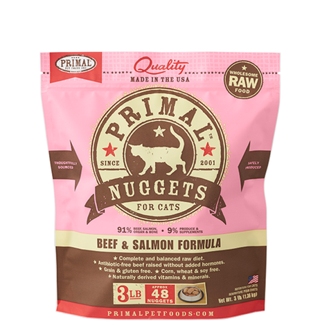 Primal Frozen Beef & Salmon - CAT