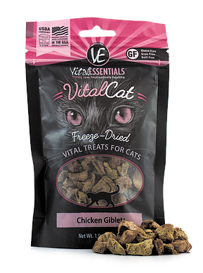Vital Essentials Freeze-Dried Chicken Giblet Treats - CAT