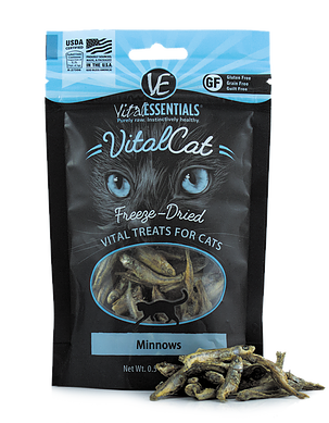 Vital Essentials Freeze-Dried Minnow Treats - CAT