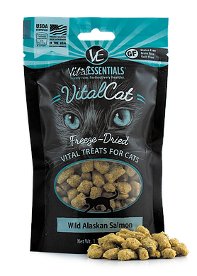 Vital Essentials Freeze-Dried Wild Alaskan Salmon Treats - CAT