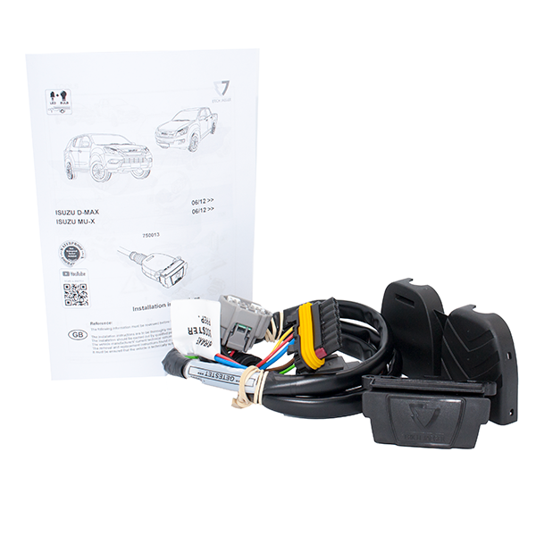 Towing Electrical Kit - 7P/12V - ISUZU D-Max - 06/12 --  (750013EJ)