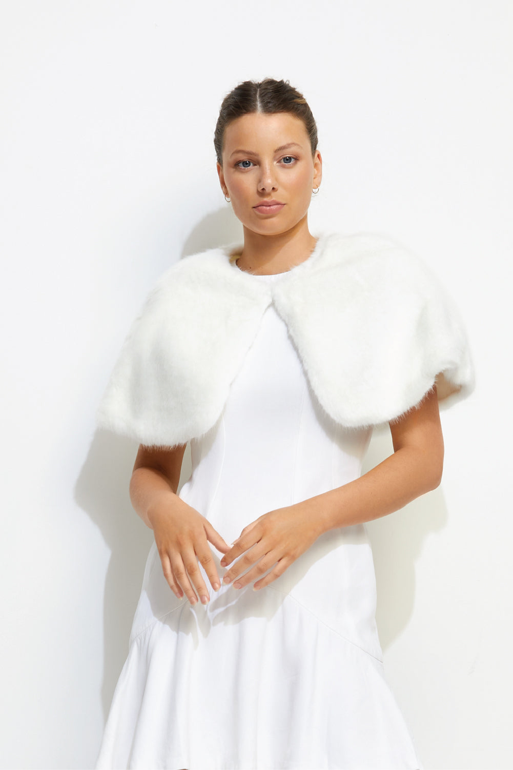 Love Me Tender Capelet in Ivory