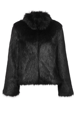 Fur Delish Jacket in Black