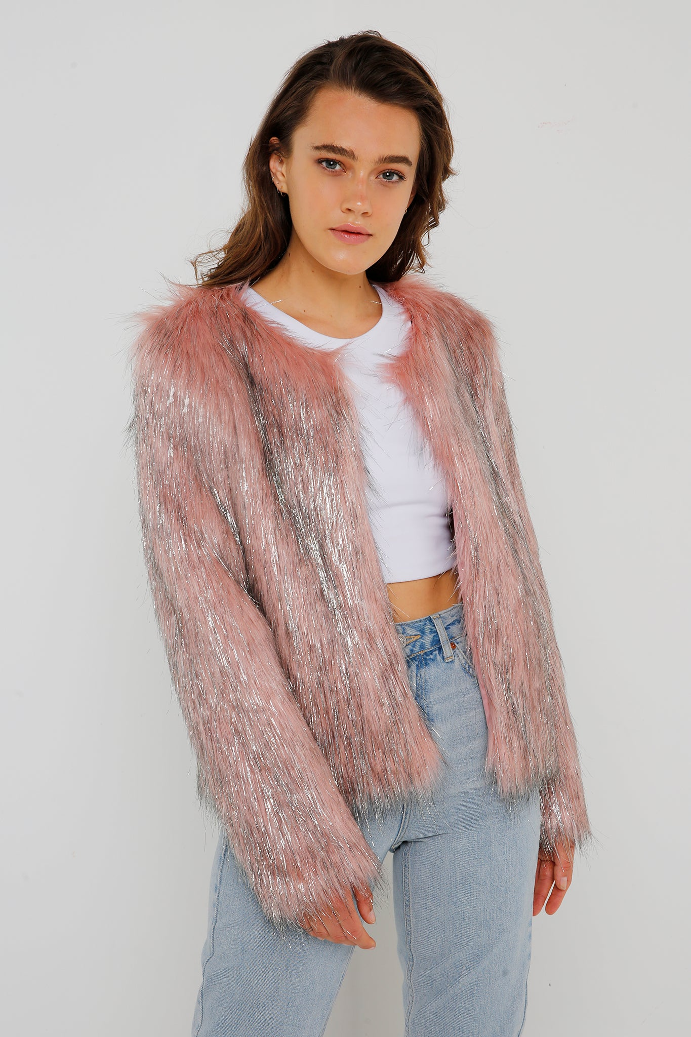 Fire & Ice Jacket in Pink/Silver